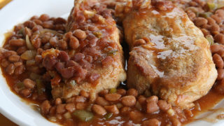 pork chop recipes with baked beans Simple Baked Beans and Pork Chop Recipe