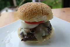 Grilled Mushroom Swiss Burger Recipe