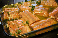 Simple Baked Salmon ready to bake picture
