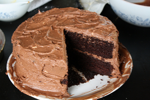 Deep Dark Mocha Chocolate Cake Recipe