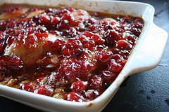 Glazed Cranberry Chicken Thigh Recipe ready to bake picture