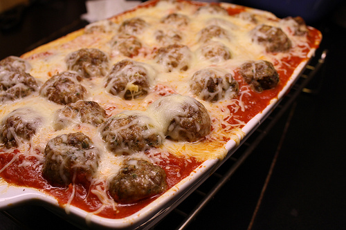 Baked Italian Spaghetti and Meatball Recipe