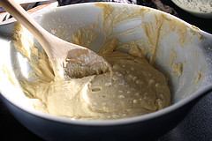 batter for Simple Blueberry Muffin Recipe