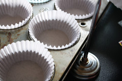 muffin cups for Simple Blueberry Muffin Recipe