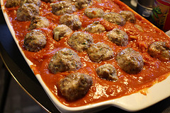 spaghetti with meatballs casserole