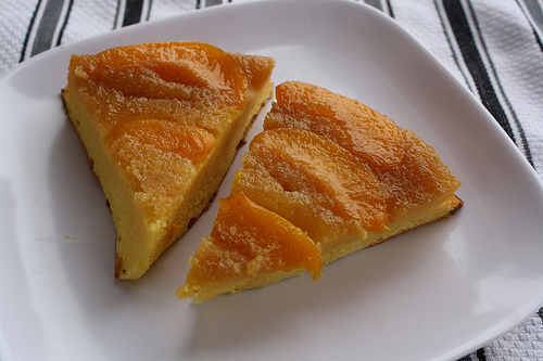 Peach Upside-Down Pudding Cake