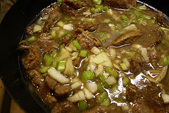 steak sauce with green onion