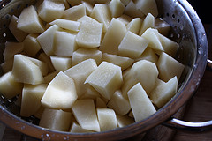 diced potato