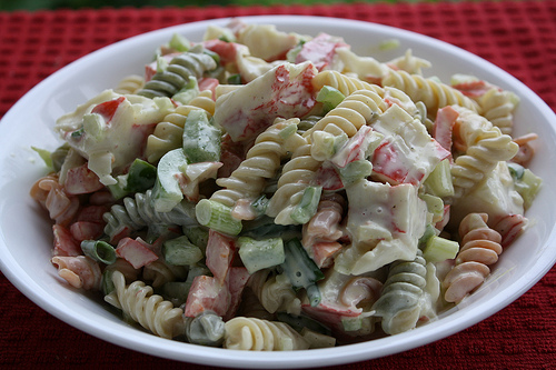 Rainbow Seafood Macaroni Salad Recipe