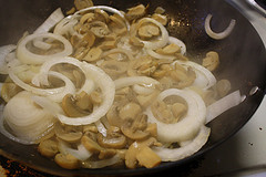 mushrooms and onions