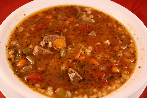 Slow Cooker Beef Barley Soup Recipe | Free Delicious Italian Recipes ...