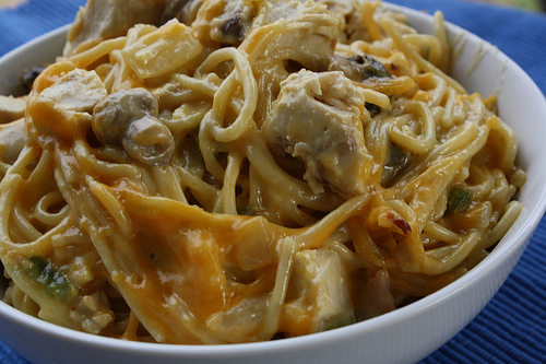 Cheesy chicken spaghetti recipe free delicious italian recipes cheesy chicken spaghetti recipe picture forumfinder