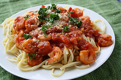 Shrimp Marinara and Linguini Recipe 21