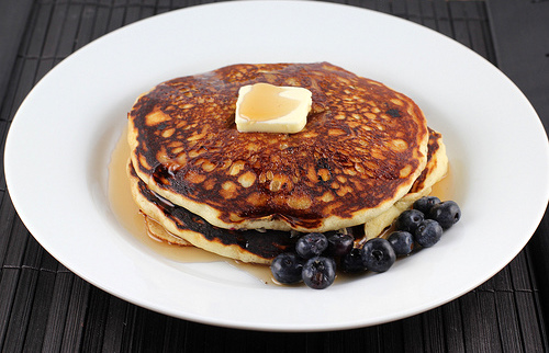Butter Milk Blueberry Pancake Recipe
