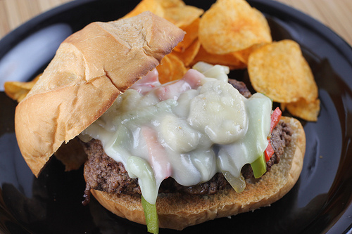 Philly Cheese Steak Burger