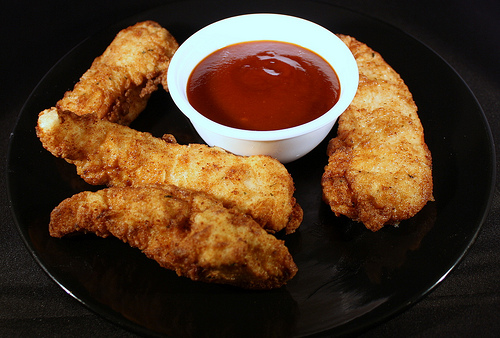 Breaded Chicken Tenders Recipe With Honey Bbq Sauce Cully S Kitchen