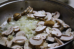 onions and mushrooms