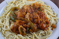 Italian Chicken and Peppers Spaghetti Recipe