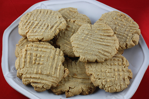 Fudge-Filled Peanut Butter Cookie