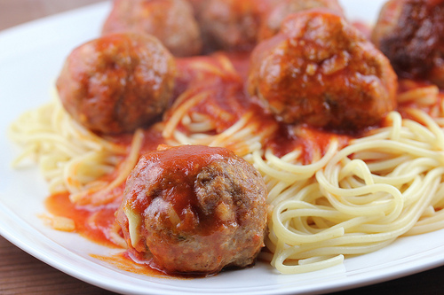 Beer-Braised Meatballs and Spaghetti Recipe