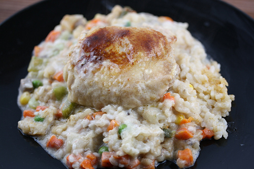 Rice and Chicken Vegetable Casserole