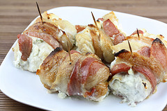 cooked Bacon Wrapped Chicken