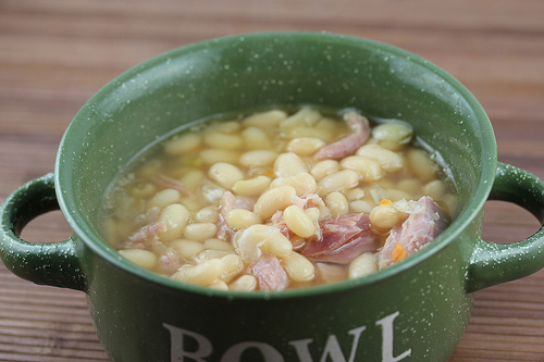 Slow Cooker Ham Bone and Beans
