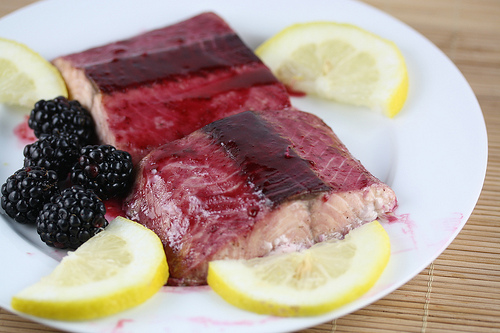 Baked Blackberry Glazed Salmon
