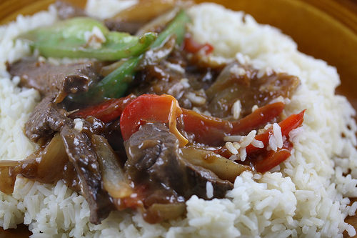 Venison Pepper Steak Stir Fry