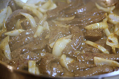 venison and onions