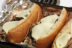 roast beef sub with provolone cheese