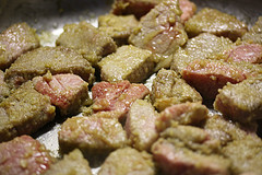 browned stew meat