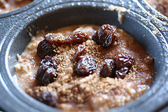 raisins and oatmeal