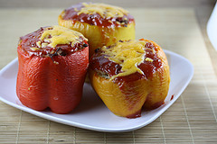 stuffed bell sweet peppers