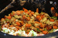 slow cooker chopped veggies