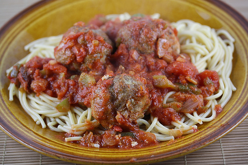 """Spaghetti and Turkey Meatball Recipe"""
