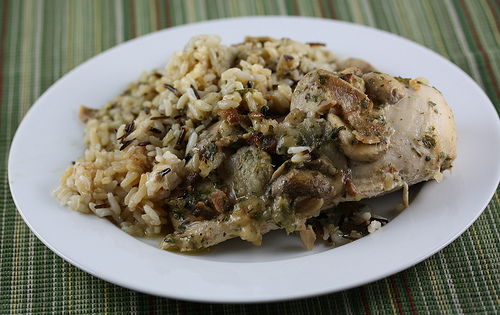 Slow Cooker Herbed Chicken with Wild Rice Recipe