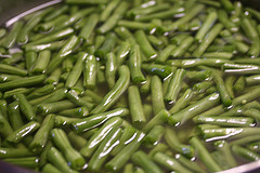 snapped green beans