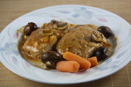 Golden Mushroom Pork Chop Recipe