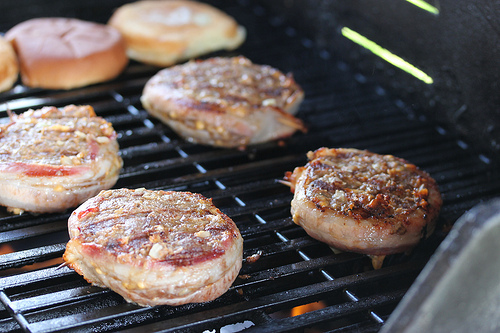 Grilled Bacon Wrapped Hamburgers Recipe