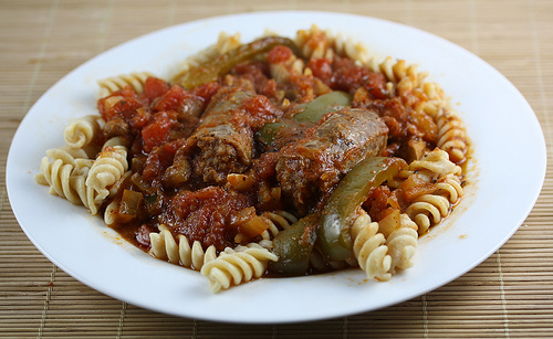 Slow Cooker Italian Sausage and Pasta Recipe
