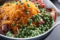 peas and cheese