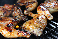 Apricot Glazed Grilled Chicken Recipe | Free Delicious Italian Recipes ...