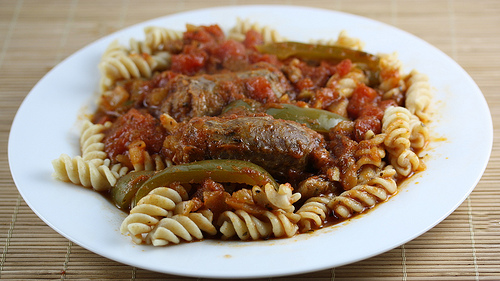 Slow Cooker Italian Sausage and Pasta