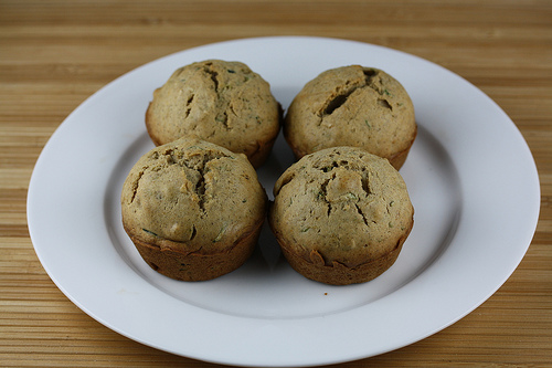 simple  zucchini muffins