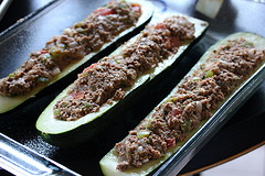 Stuffed raw Zucchinis