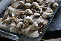 mushrooms and pork