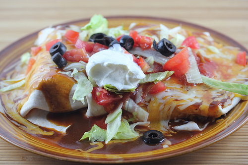 Chicken Wet Burritos Recipe