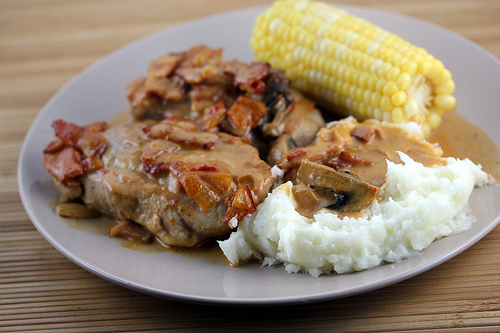 Bacon and Onion Pork Chop Recipe