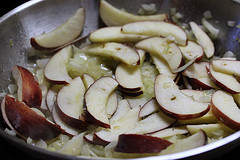 cooking apples and onions